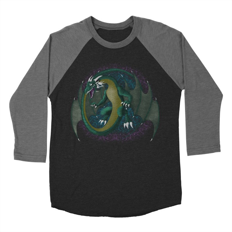 Electric Portal Dragon Women's Baseball Triblend T-Shirt by R Lopez Designs
