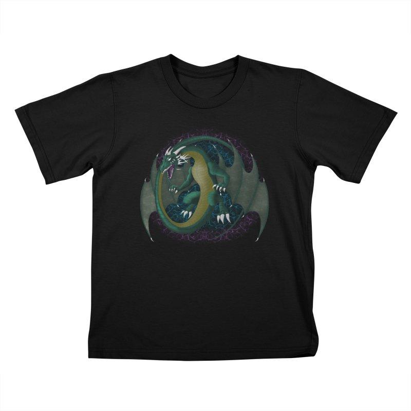 Electric Portal Dragon Kids T-shirt by R Lopez Designs