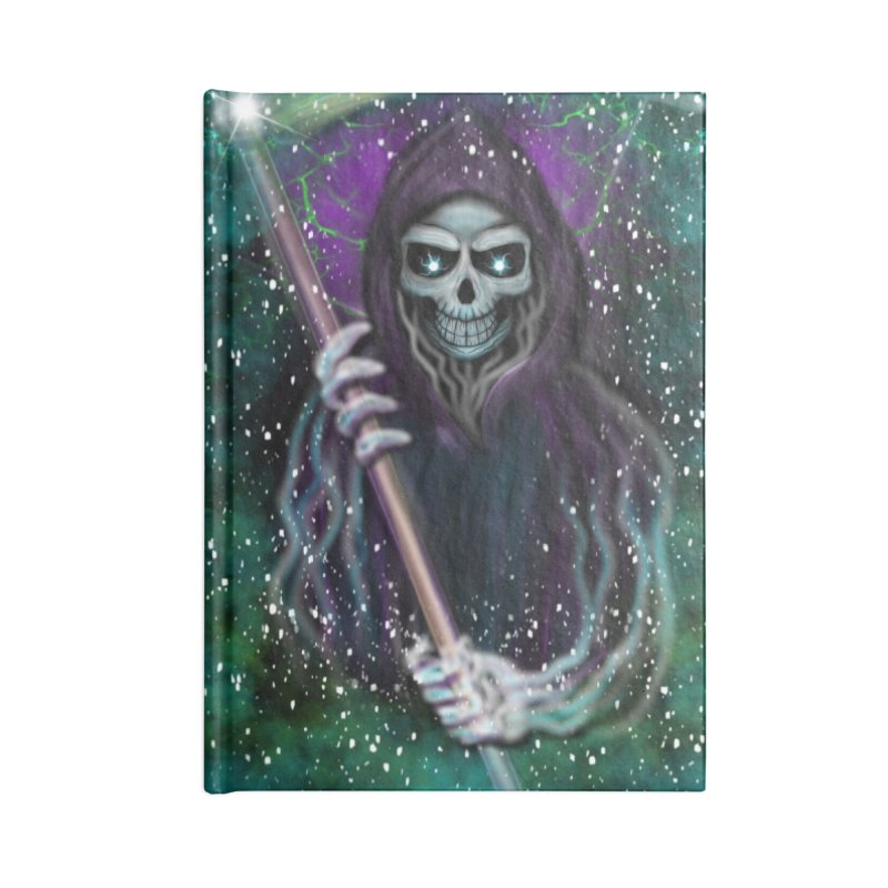 Galaxy Grim Reaper  Accessories Notebook by R Lopez Designs