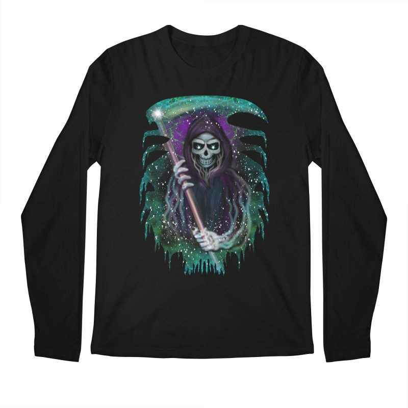 Galaxy Grim Reaper  Men's Longsleeve T-Shirt by R Lopez Designs
