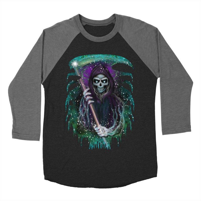 Galaxy Grim Reaper  Women's Baseball Triblend T-Shirt by R Lopez Designs