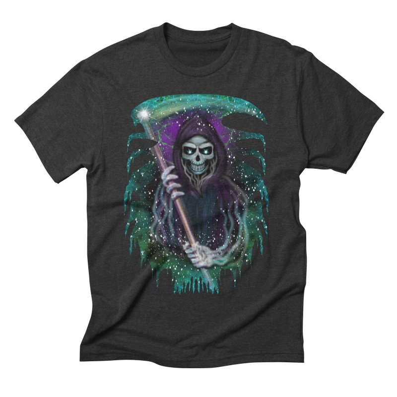 Galaxy Grim Reaper  Men's Triblend T-shirt by R Lopez Designs