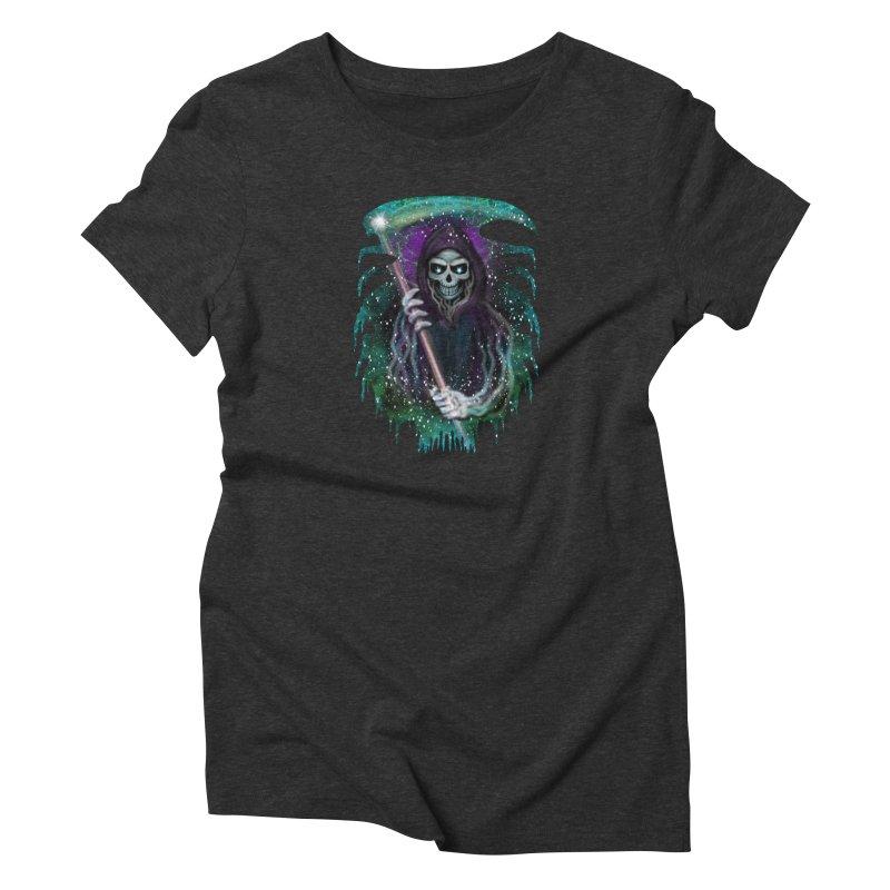 Galaxy Grim Reaper  Women's T-Shirt by R Lopez Designs