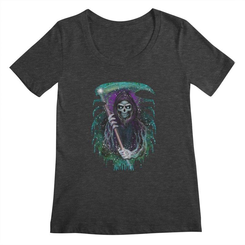 Galaxy Grim Reaper  Women's Scoopneck by R Lopez Designs
