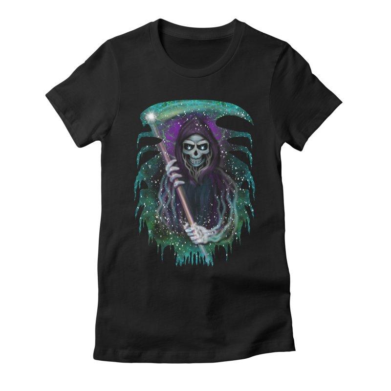 Galaxy Grim Reaper  Women's Lounge Pants by R Lopez Designs