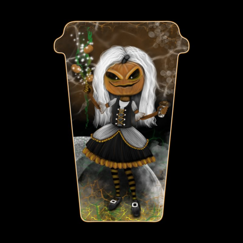 Pumpkin Coffee Maid Women's Scoop Neck by R Lopez Designs