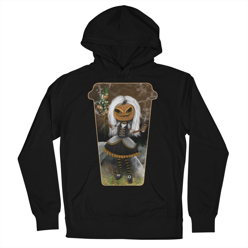 Pumpkin Coffee Maid Men's French Terry Pullover Hoody by R Lopez Designs