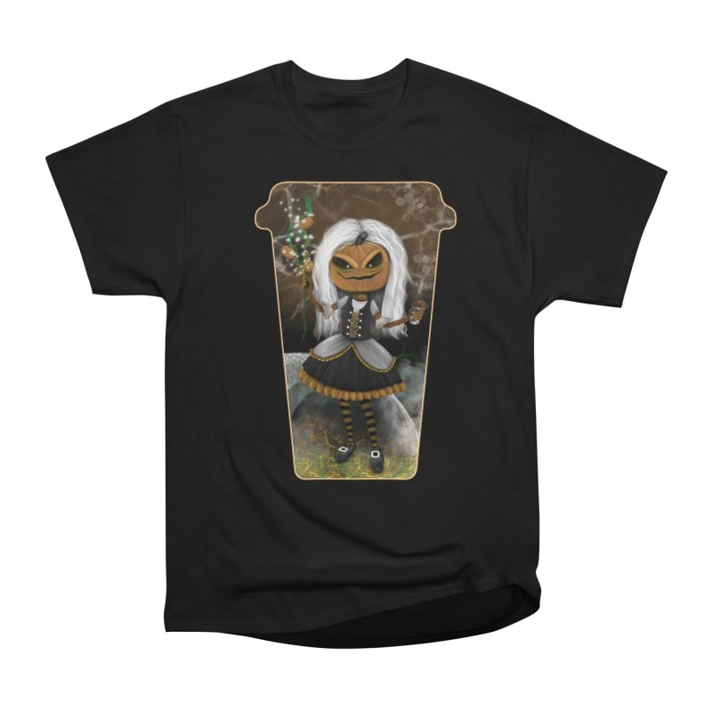 Pumpkin Coffee Maid Women's Classic Unisex T-Shirt by R Lopez Designs