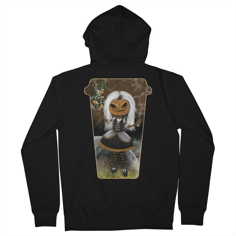 Pumpkin Coffee Maid Men's French Terry Zip-Up Hoody by R Lopez Designs