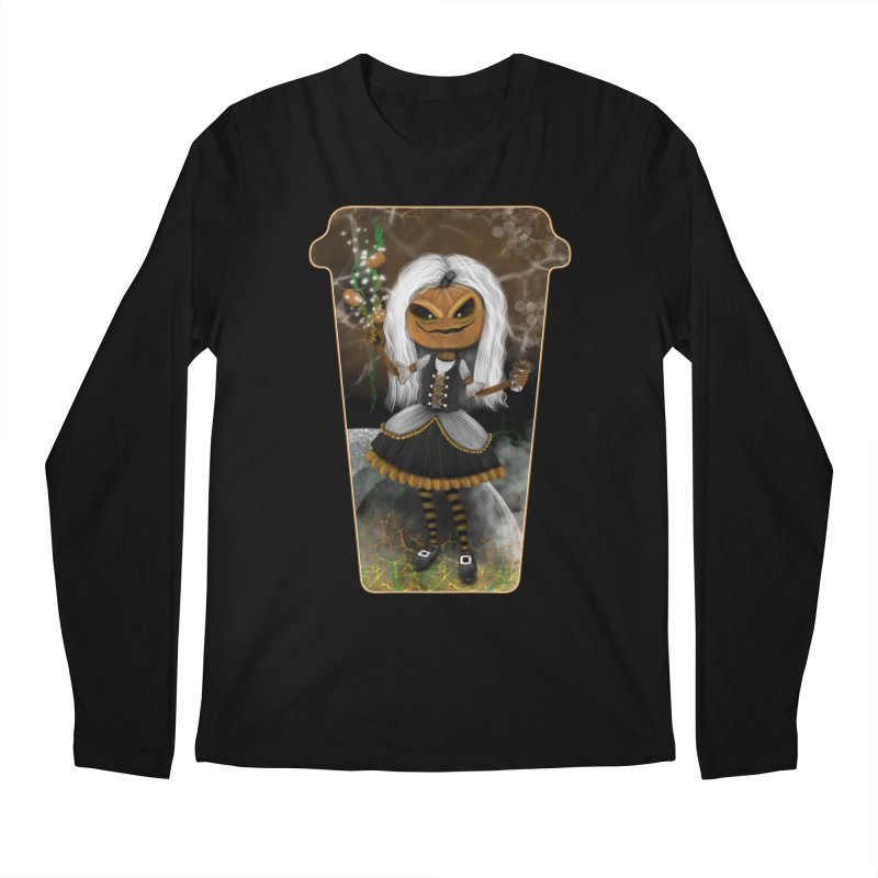 Pumpkin Coffee Maid Men's Longsleeve T-Shirt by R Lopez Designs