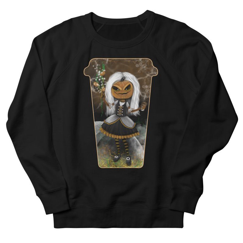 Pumpkin Coffee Maid Men's French Terry Sweatshirt by R Lopez Designs