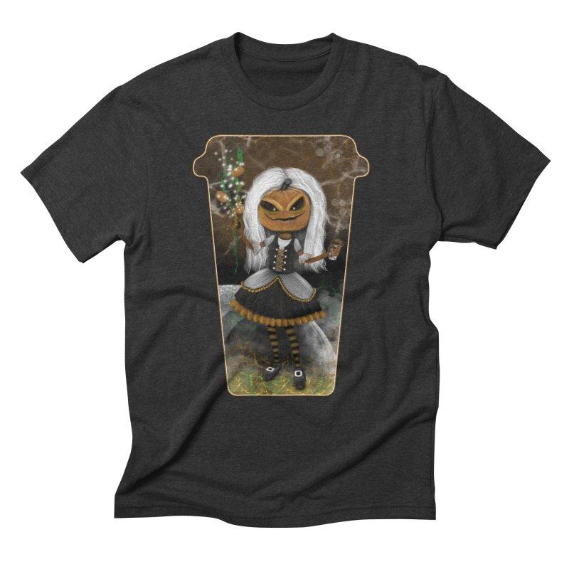 Pumpkin Coffee Maid Men's Triblend T-Shirt by R Lopez Designs