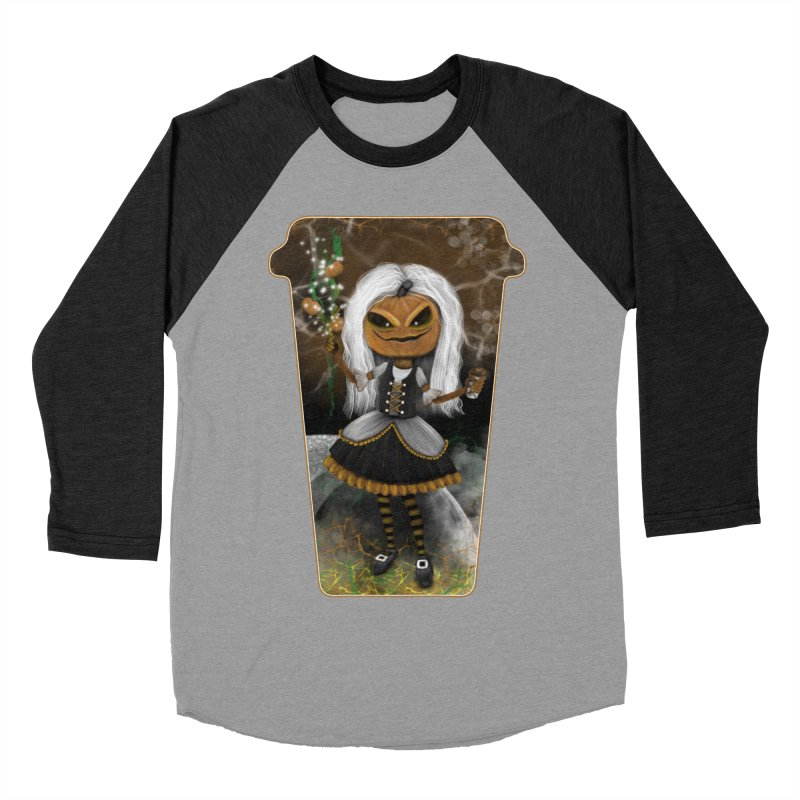 Pumpkin Coffee Maid Women's Baseball Triblend T-Shirt by R Lopez Designs