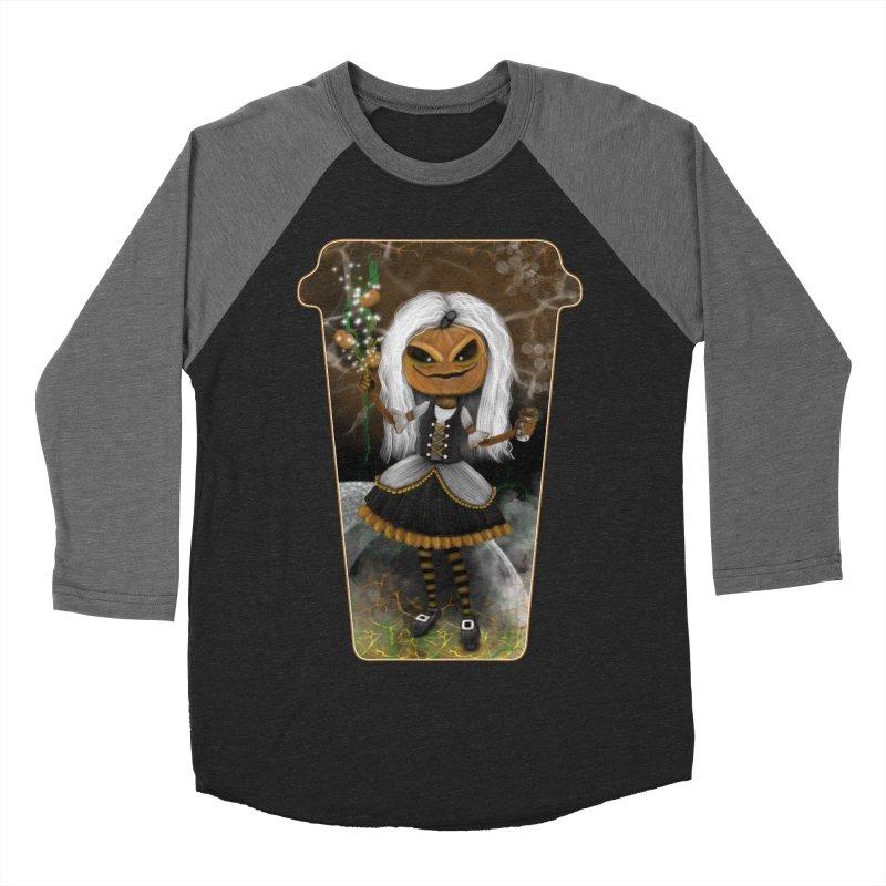 Pumpkin Coffee Maid Men's Baseball Triblend Longsleeve T-Shirt by R Lopez Designs
