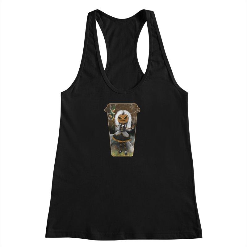 Pumpkin Coffee Maid Women's Tank by R Lopez Designs