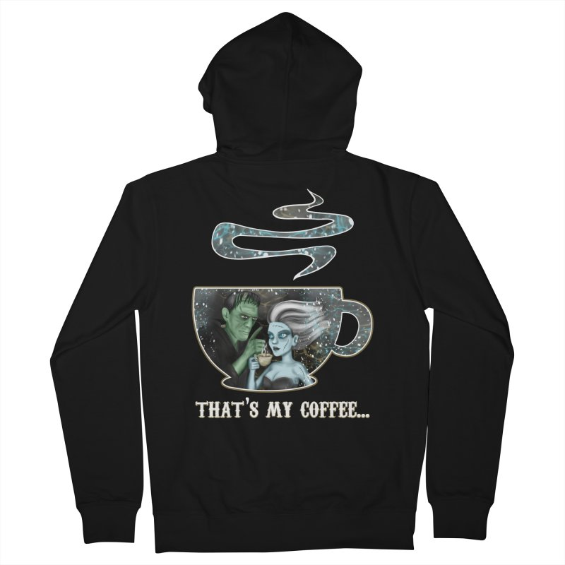 That's My Coffee Men's French Terry Zip-Up Hoody by R Lopez Designs