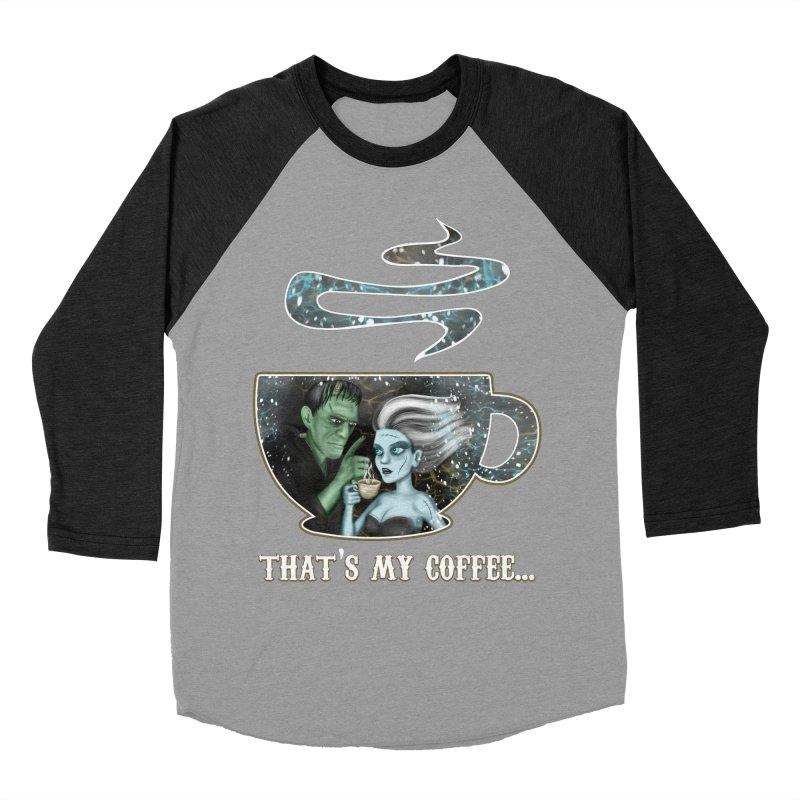 That's My Coffee Men's Baseball Triblend T-Shirt by R Lopez Designs