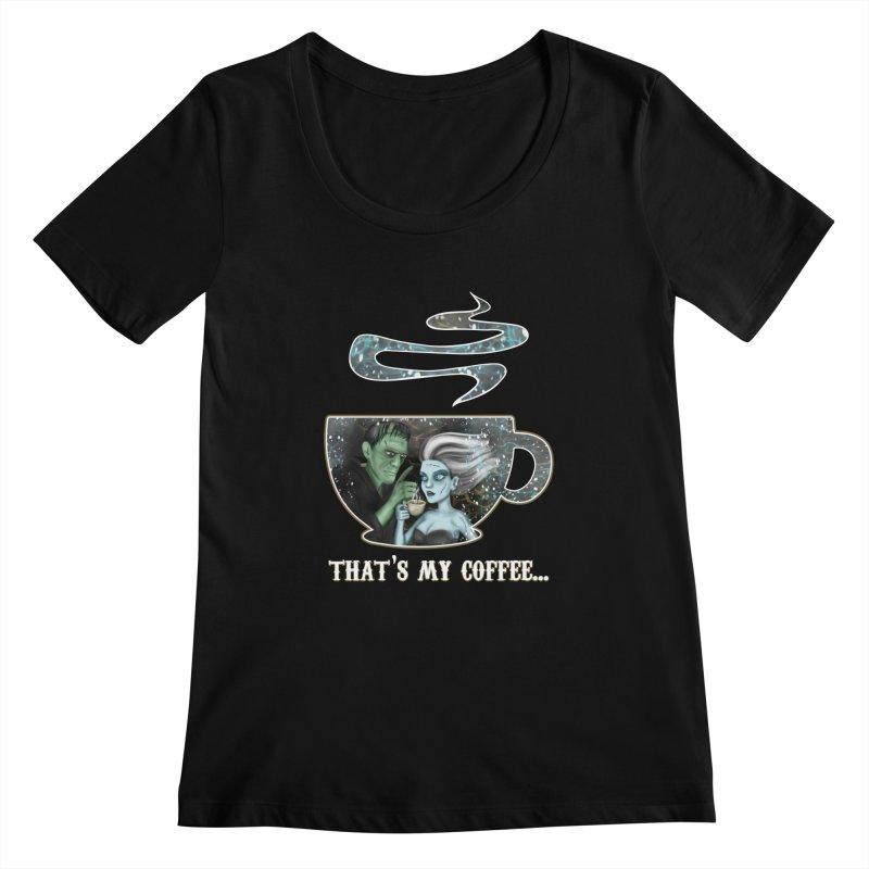 That's My Coffee Women's Scoopneck by R Lopez Designs
