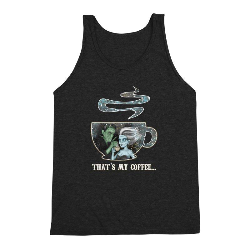 That's My Coffee Men's Triblend Tank by R Lopez Designs