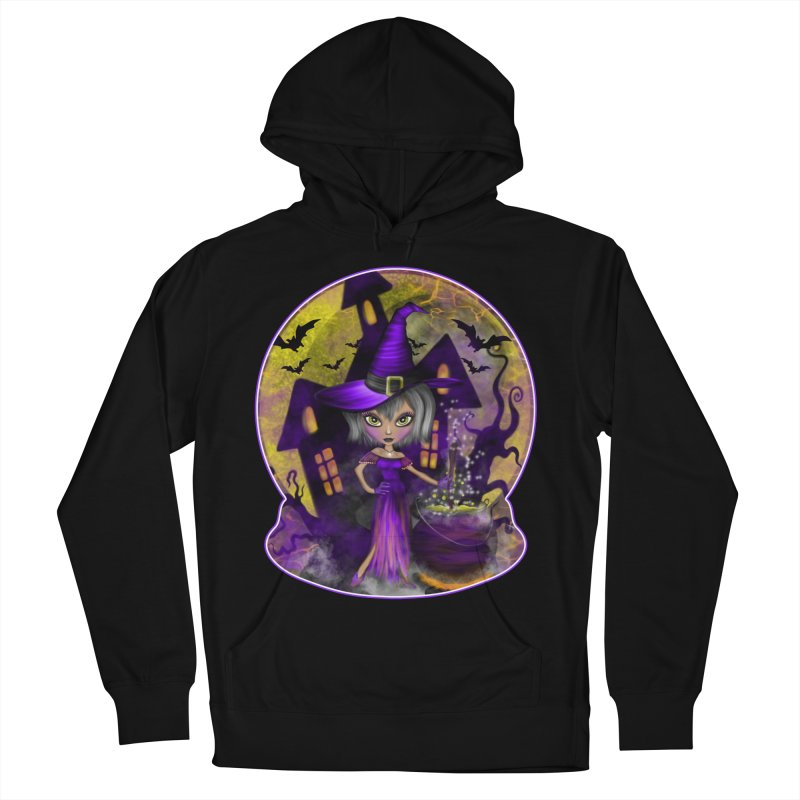 Wisdom Witch Men's French Terry Pullover Hoody by R Lopez Designs