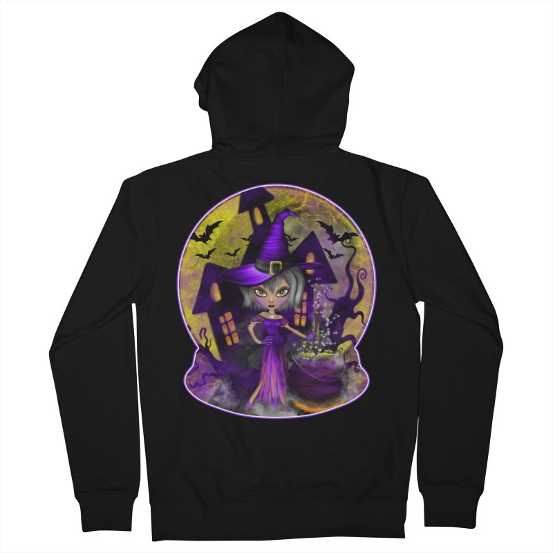 Wisdom Witch Men's French Terry Zip-Up Hoody by R Lopez Designs