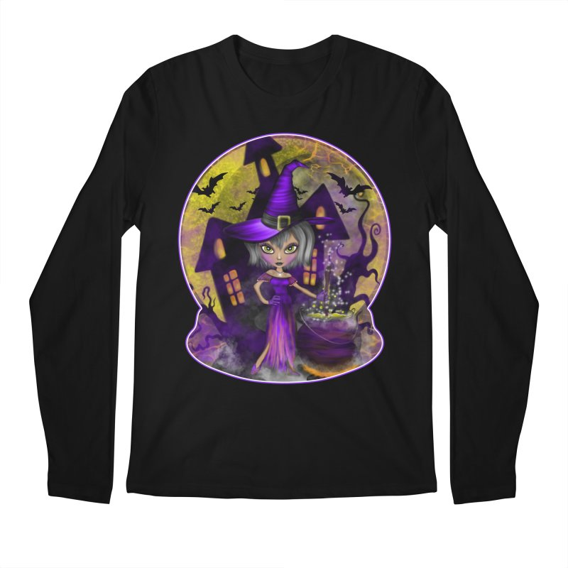 Wisdom Witch Men's Longsleeve T-Shirt by R Lopez Designs