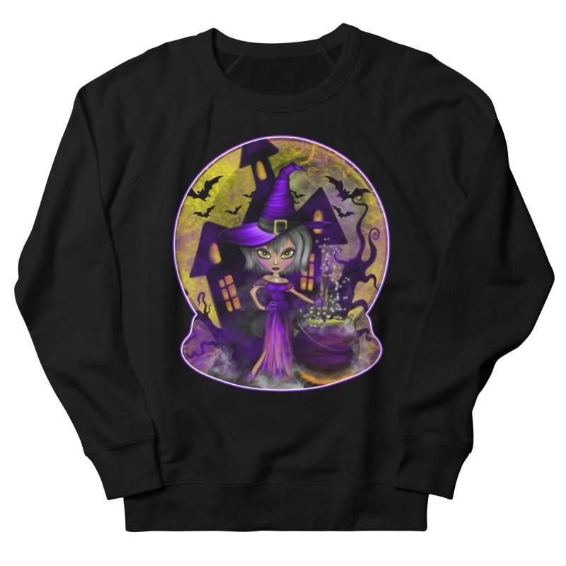 Wisdom Witch Men's French Terry Sweatshirt by R Lopez Designs
