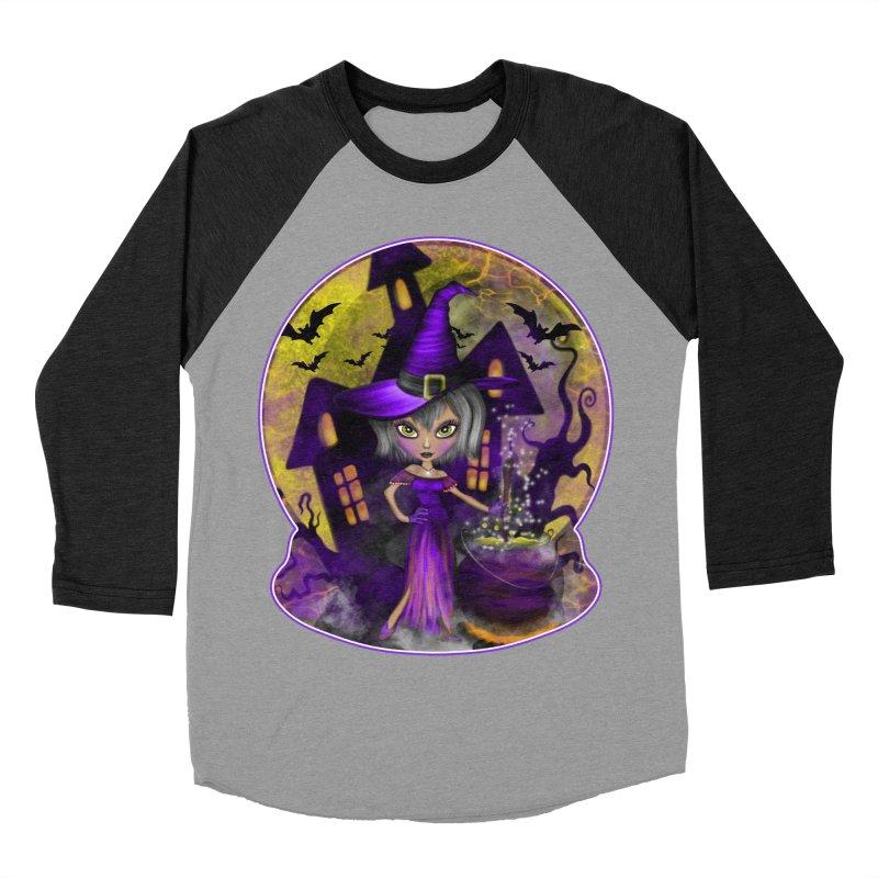 Wisdom Witch Men's Baseball Triblend T-Shirt by R Lopez Designs
