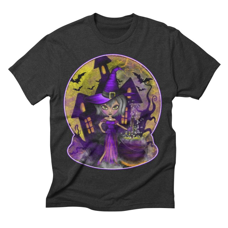 Wisdom Witch Men's Triblend T-shirt by R Lopez Designs