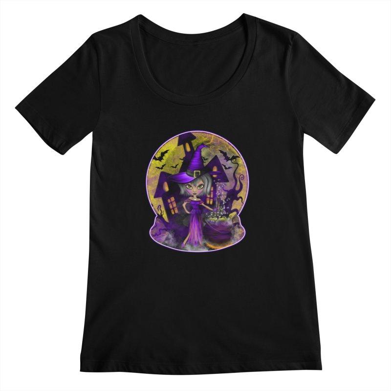 Wisdom Witch Women's Scoopneck by R Lopez Designs