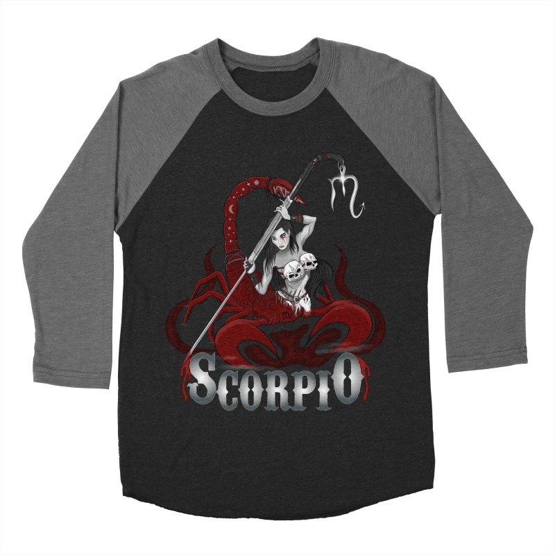 The Scorpion - Scorpio Spirit Men's Baseball Triblend Longsleeve T-Shirt by R Lopez Designs