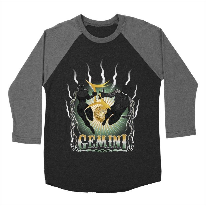 The Twins - Gemini Spirits Men's Baseball Triblend Longsleeve T-Shirt by R Lopez Designs