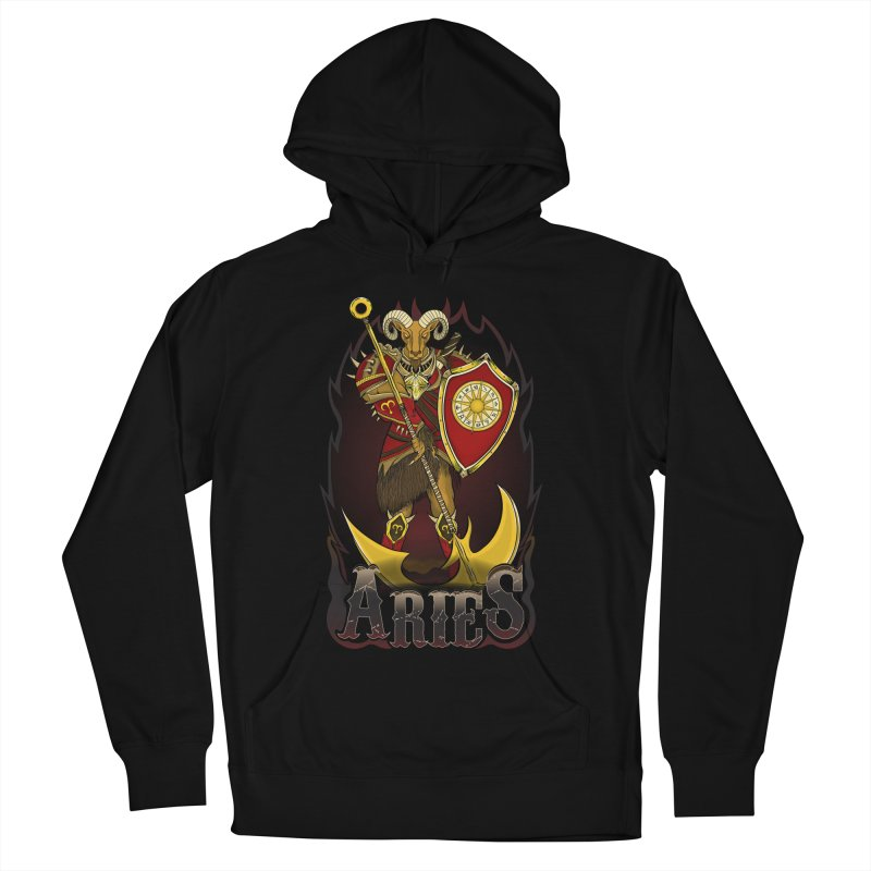 The Ram - Aries Spirit Men's French Terry Pullover Hoody by R Lopez Designs