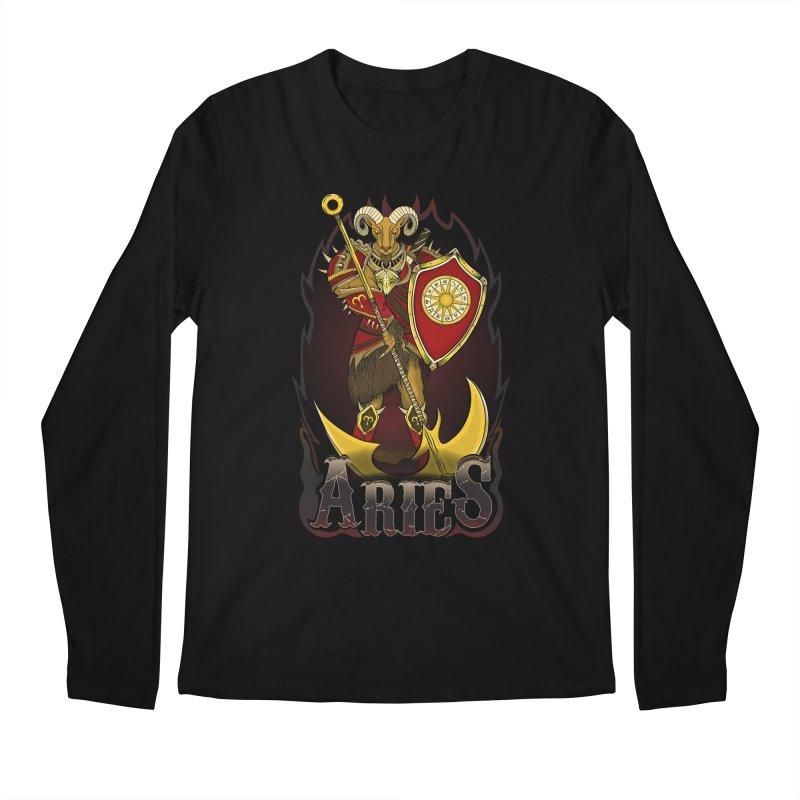The Ram - Aries Spirit Men's Regular Longsleeve T-Shirt by R Lopez Designs