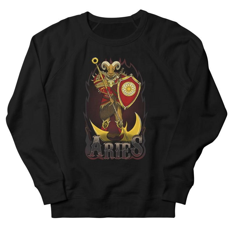 The Ram - Aries Spirit Men's French Terry Sweatshirt by R Lopez Designs