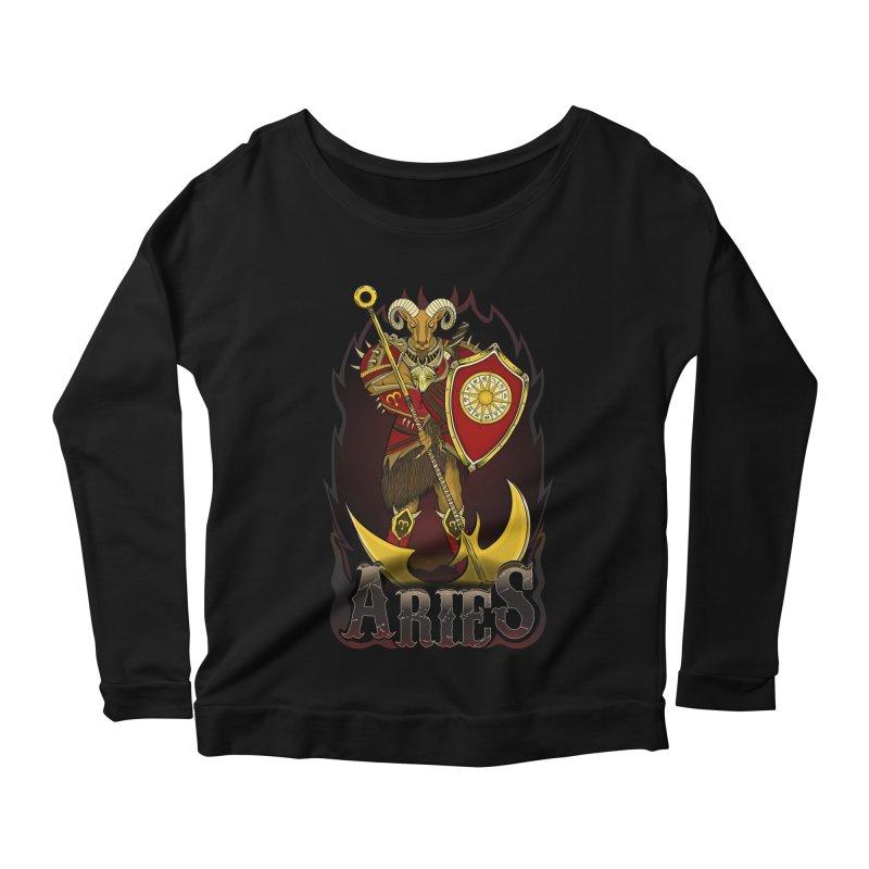 The Ram - Aries Spirit Women's Scoop Neck Longsleeve T-Shirt by R Lopez Designs