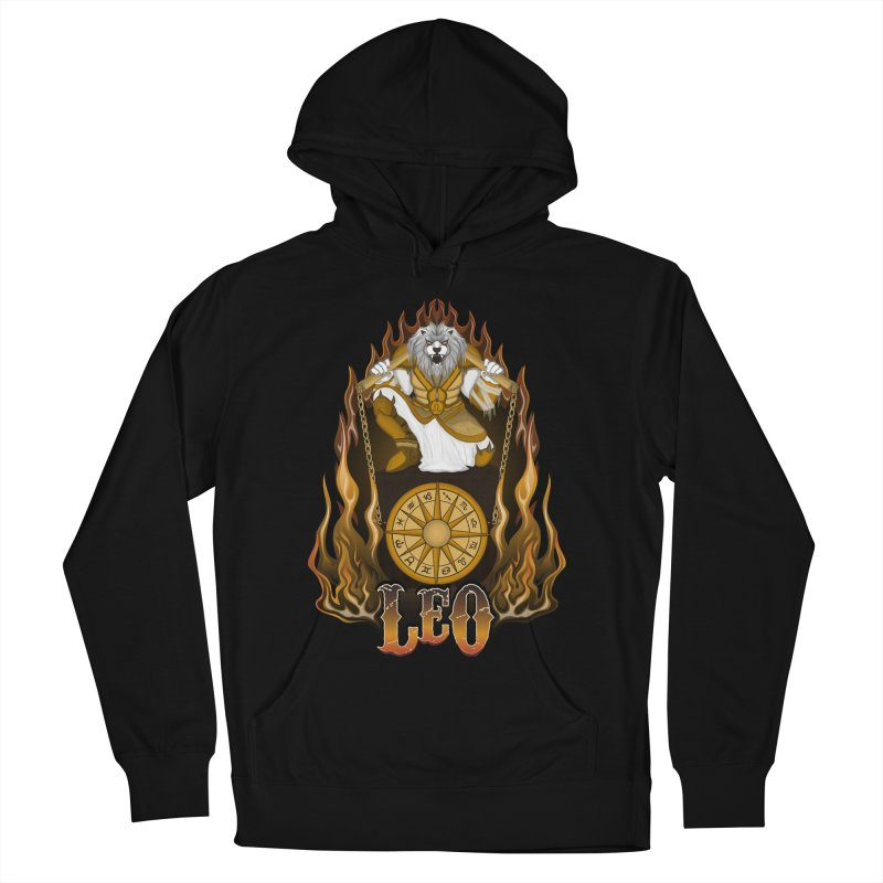 The Lion - Leo Spirit Men's French Terry Pullover Hoody by R Lopez Designs