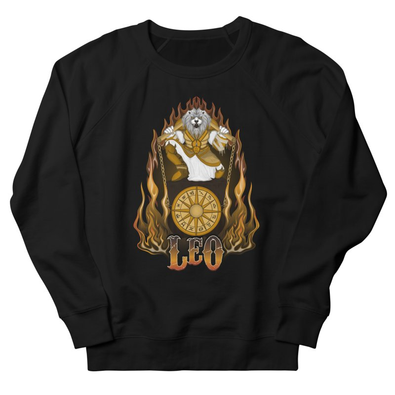 The Lion - Leo Spirit Men's French Terry Sweatshirt by R Lopez Designs