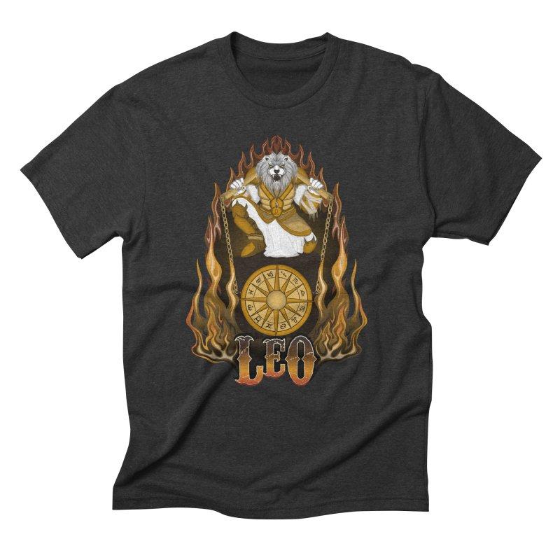 The Lion - Leo Spirit Men's Triblend T-Shirt by R Lopez Designs