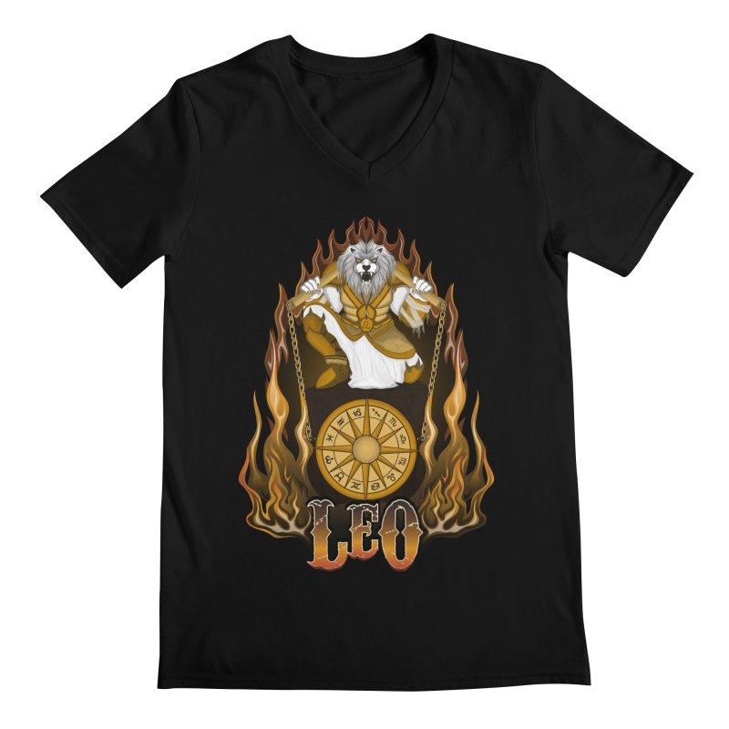 The Lion - Leo Spirit Men's Regular V-Neck by R Lopez Designs