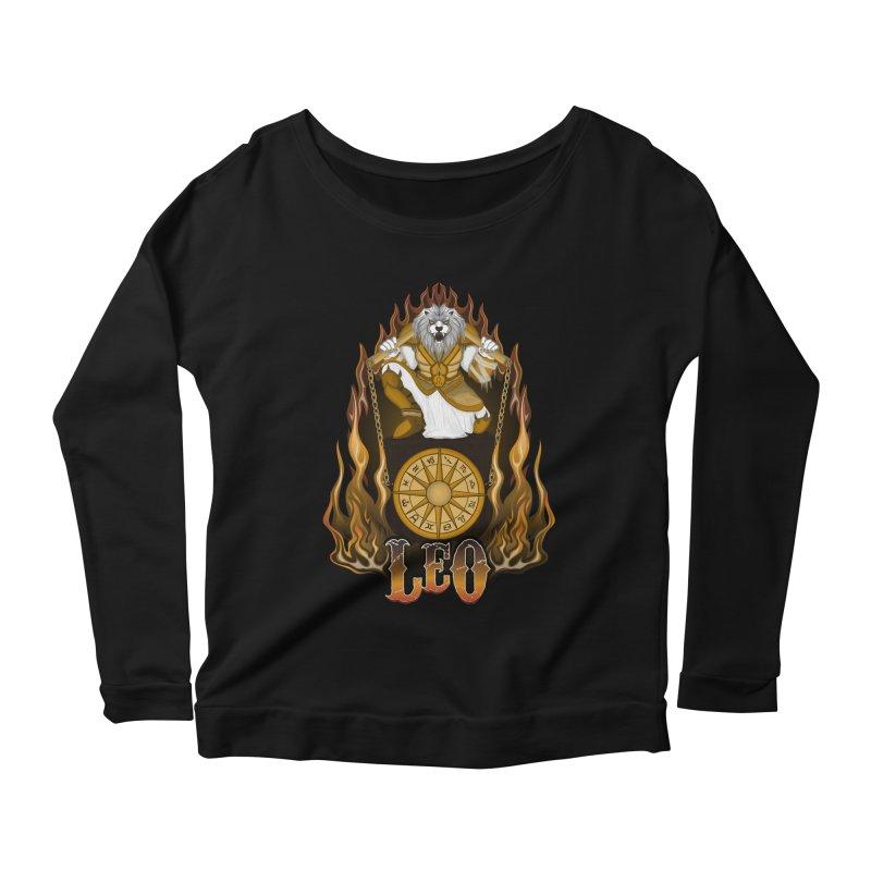 The Lion - Leo Spirit Women's Scoop Neck Longsleeve T-Shirt by R Lopez Designs