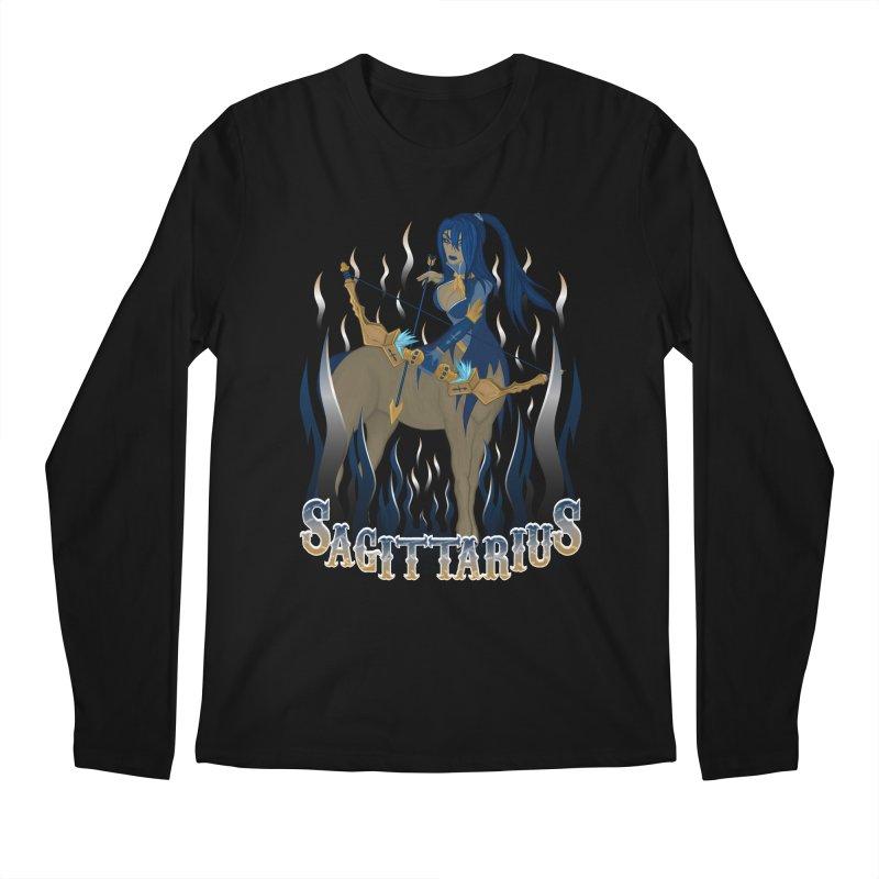 The Archer - Sagittarius Spirit Men's Regular Longsleeve T-Shirt by R Lopez Designs