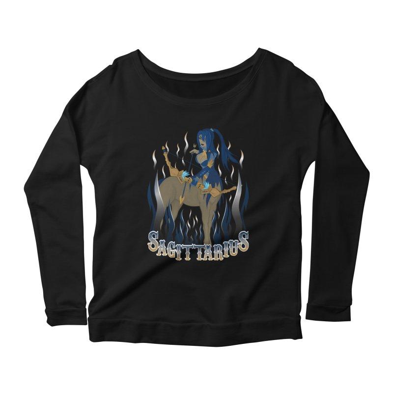 The Archer - Sagittarius Spirit Women's Scoop Neck Longsleeve T-Shirt by R Lopez Designs
