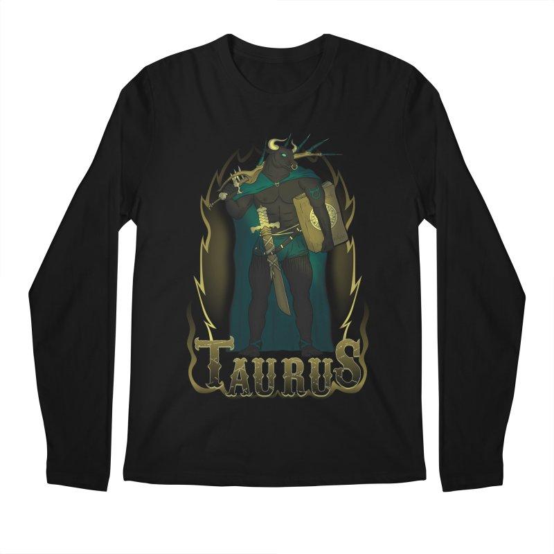 The Bull - Taurus Spirit Men's Regular Longsleeve T-Shirt by R Lopez Designs