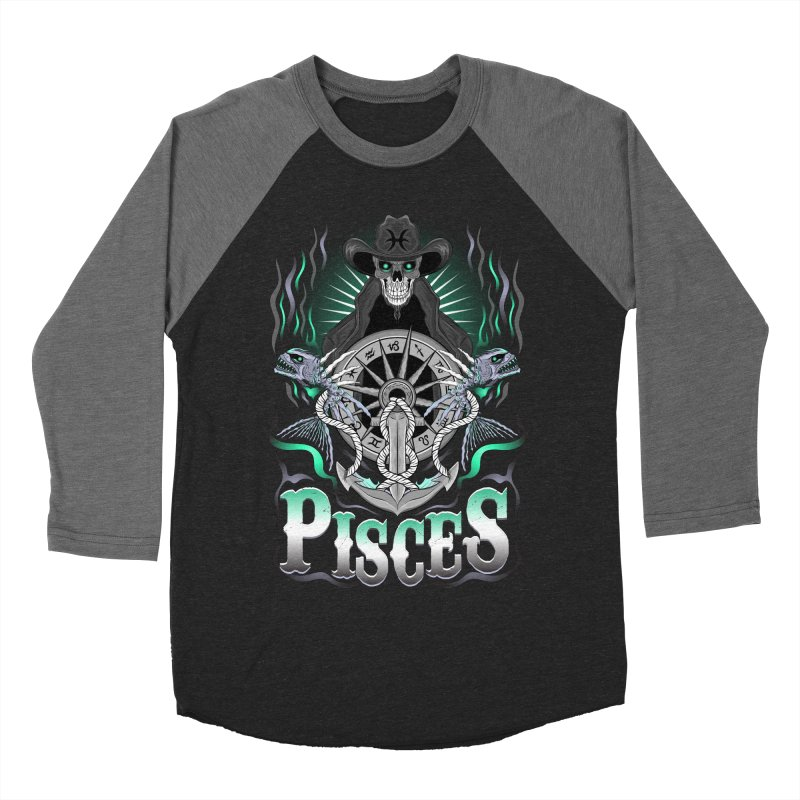The Fish - Pisces Spirit Men's Baseball Triblend T-Shirt by R Lopez Designs