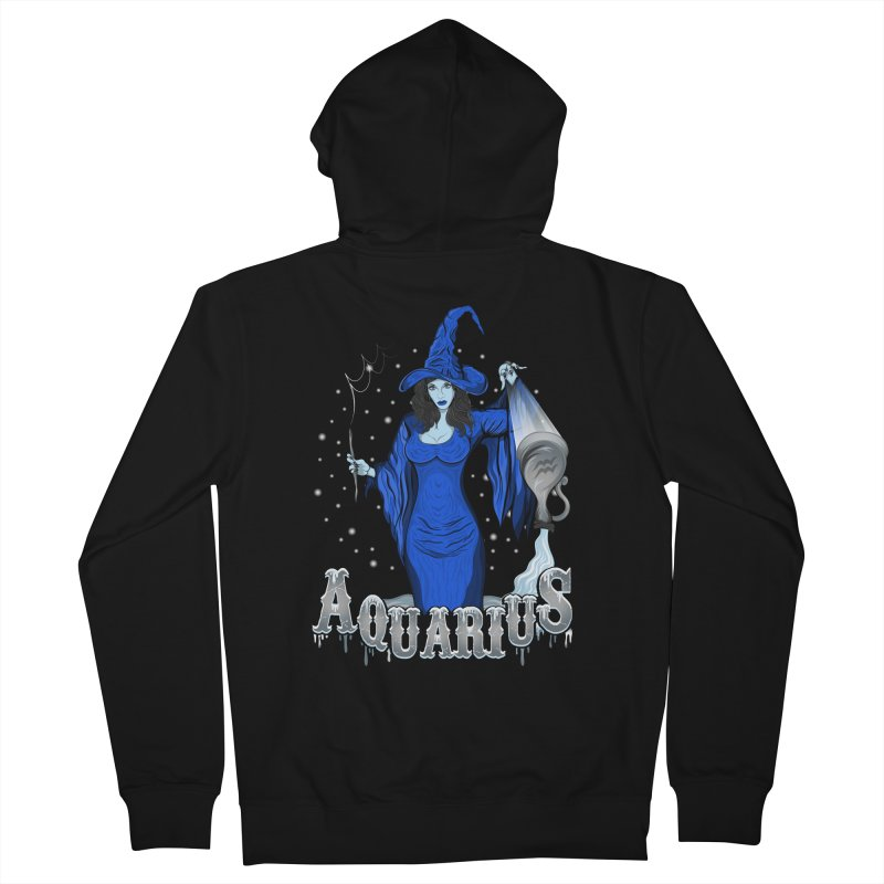 The Water Bearer - Aquarius Spirit Men's French Terry Zip-Up Hoody by R Lopez Designs