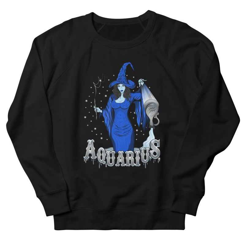 The Water Bearer - Aquarius Spirit Men's French Terry Sweatshirt by R Lopez Designs