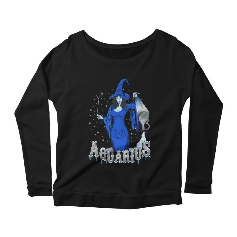The Water Bearer - Aquarius Spirit Women's Scoop Neck Longsleeve T-Shirt by R Lopez Designs