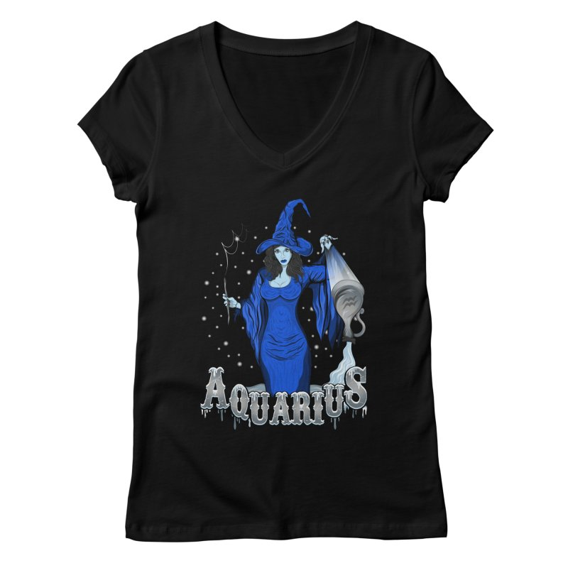 The Water Bearer - Aquarius Spirit Women's V-Neck by R Lopez Designs