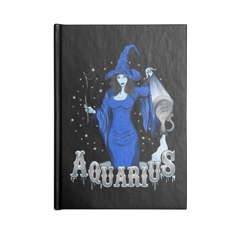 The Water Bearer - Aquarius Spirit Accessories Notebook by R Lopez Designs